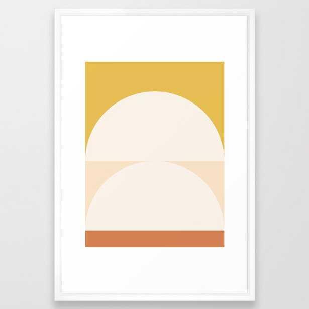 Abstract Geometric 01 Framed Art Print, Large 26x38, Vector White Frame - Society6