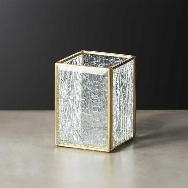 Shatter Square Glass Pencil Holder - CB2