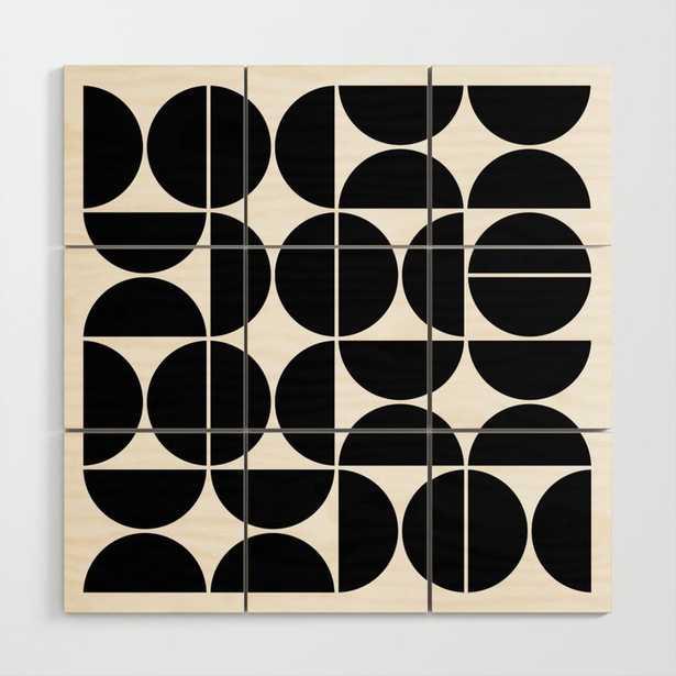 Mid Century Modern Geometric 04 Black Wood Wall Art - Society6