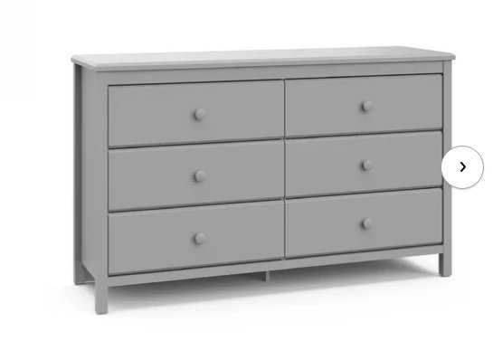 Alpine 6 Drawer Double Dresser - pebble gray - Wayfair