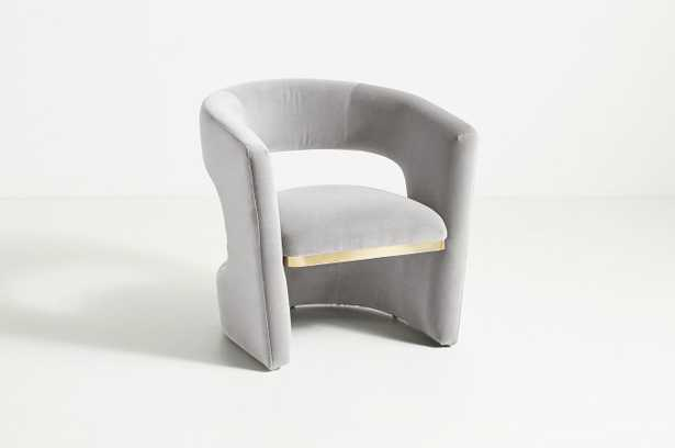 Sarrono Accent Chair, Valencia Velvet in Fog - Anthropologie