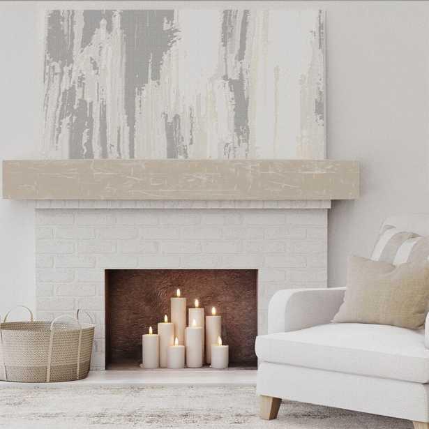 Hand Hewn Faux Wood Texture Fireplace Shelf Mantel - Wayfair