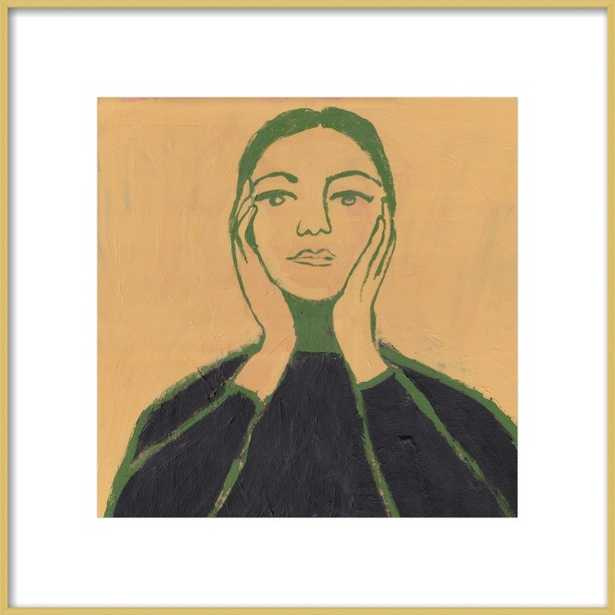 """Maria Callas - 16x16"""" - - Frosted Gold Metal Frame with Matte - Artfully Walls"""