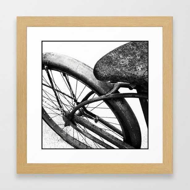 Vintage Bike Home Decor Black and White Framed Art Print - Society6