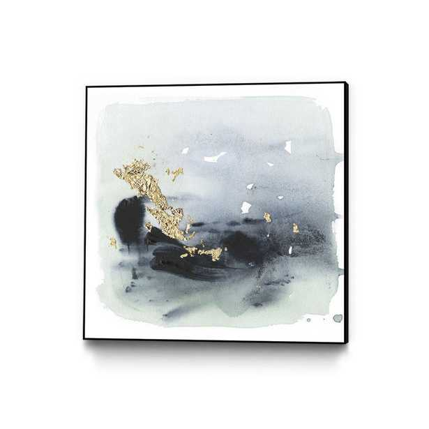 """CLICART 30 in. x 30 in. """"Cerulean & Gold II"""" by Victoria Borges Framed Wall Art, Metallics - Home Depot"""