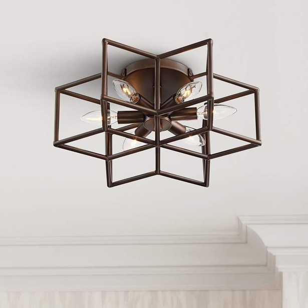 Cosmos 6-Point Star Oil-Rubbed Bronze 6-Light Ceiling Light - Style # 65K88 - Lamps Plus