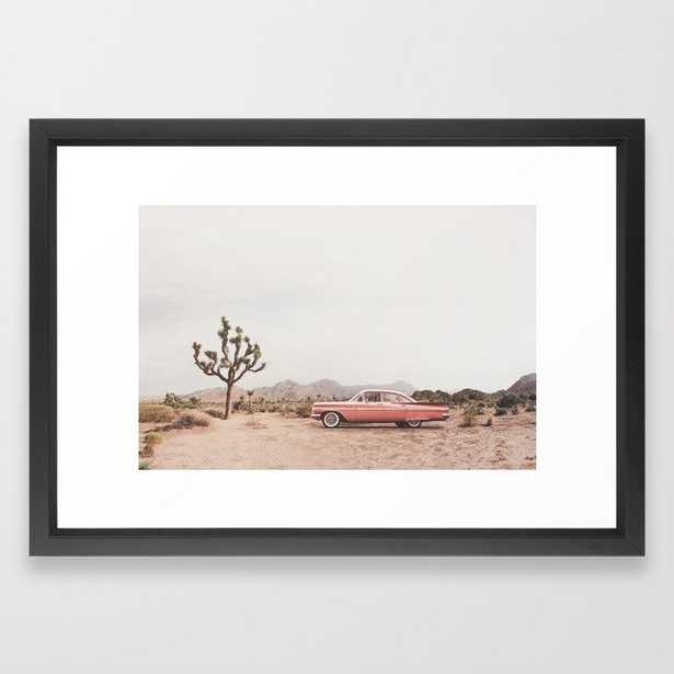 California Living Framed Art Print by Sisi And Seb Vector Black Frame - Society6