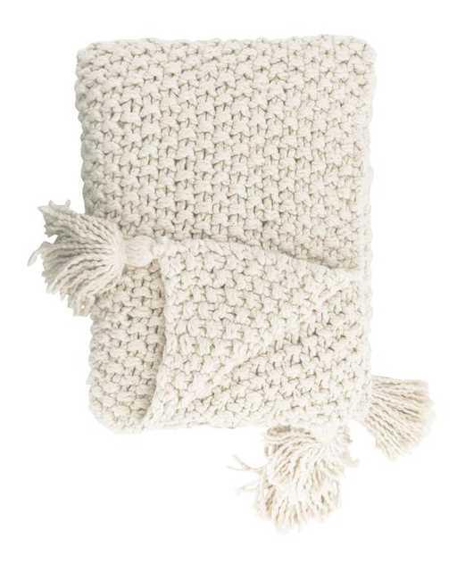 Lorrelle Cotton Knit Throw - McGee & Co.