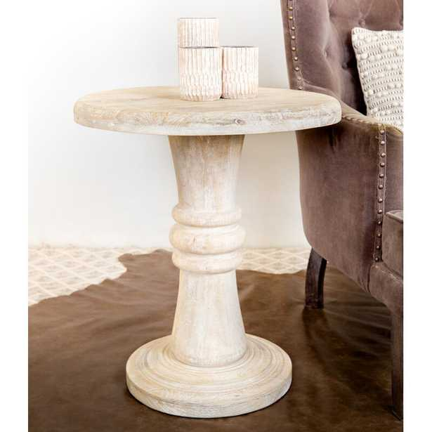 Ottis Solid Wood Pedestal End Table - Wayfair