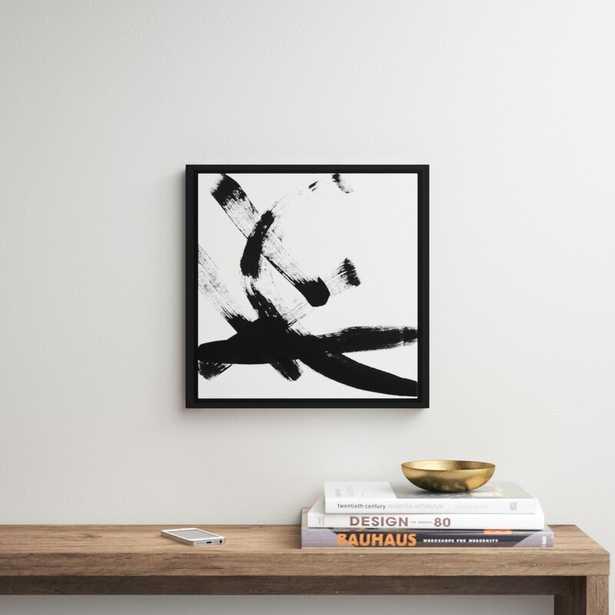 """Brush Stroke I by Linda Woods - Floater Frame Print on Canvas 18 x 14"""" - AllModern"""