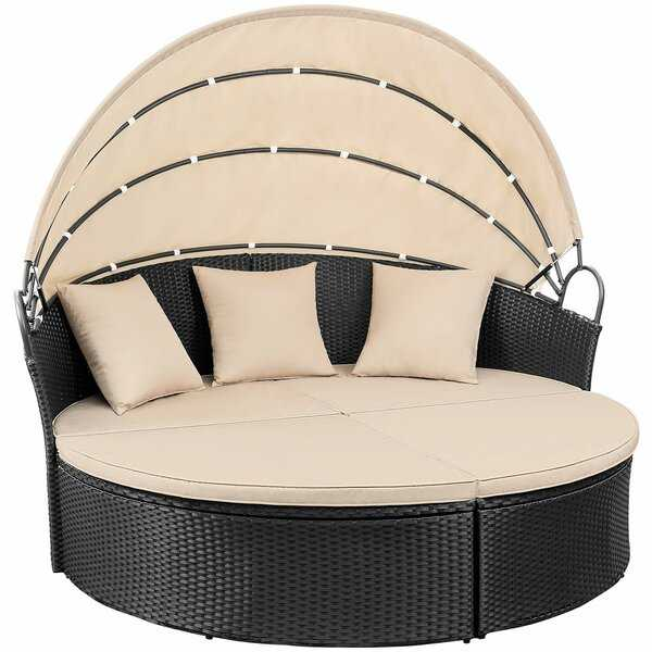 Leiston Round Patio Daybed with Cushions - Wayfair