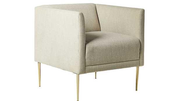 Marais Essence Sea Salt Chair with Brass Legs - CB2
