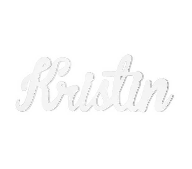 Cursive Font Name, White - Pottery Barn Kids