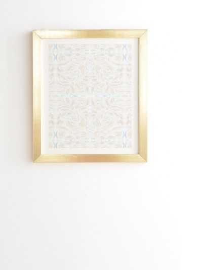CURVE BEIGE BLUE Gold Framed Wall Art By Jacqueline Maldonado - Wander Print Co.
