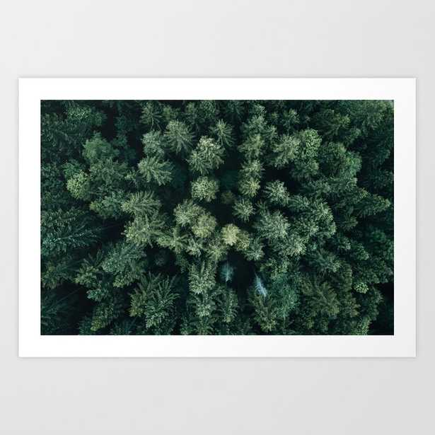 Forest from above - Landscape Photography Art Print - Society6