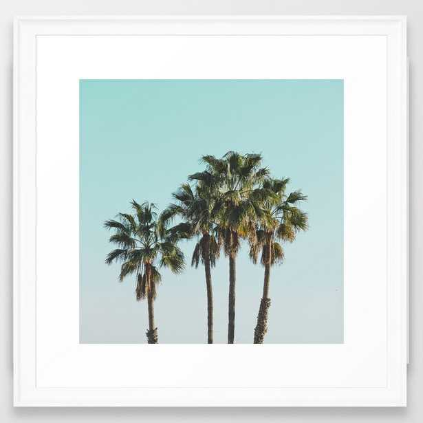"Los Angelos Framed Art Print - Medium (gallery) 22"" X 22"" - Scoop White - Society6"