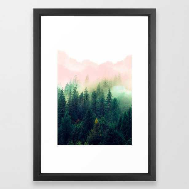 Watercolor mountain landscape Framed Art Print - Society6