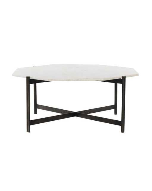 Amos Coffee Table, Hammered Gray - McGee & Co.
