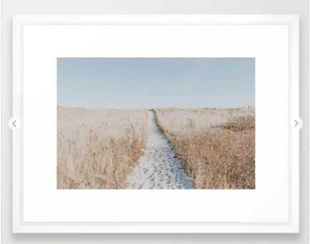 summer blues Framed Art Print - 26x38 - Society6