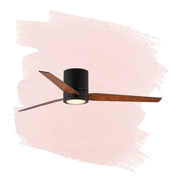 """56"""" Tucker 3 -Blade LED Standard Ceiling Fan with Remote Control and Light Kit Included - Wayfair"""