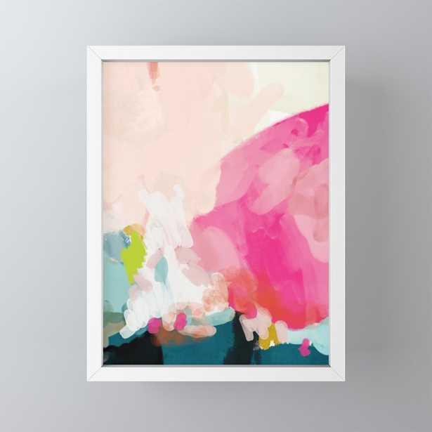 pink sky Framed Mini Art Print - Society6