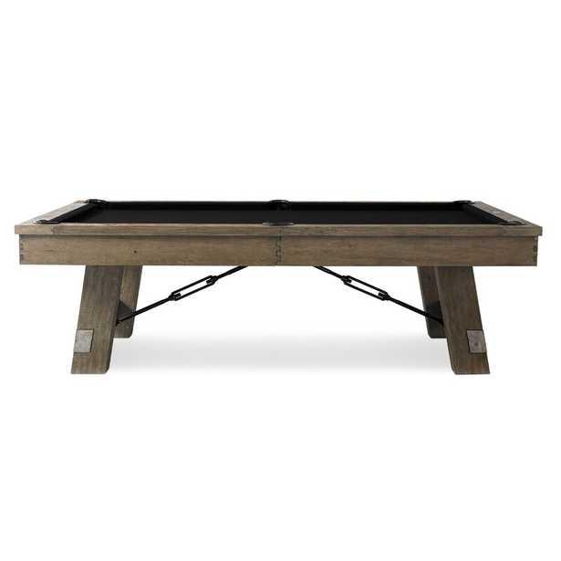 Isaac 8' Slate Pool Table / Black - Wayfair
