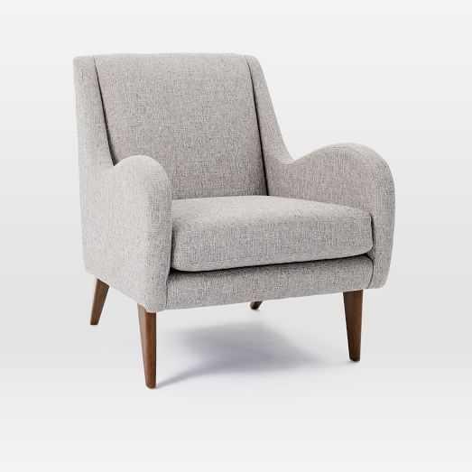 Sebastian Chair, Deco Weave, Feather Gray - West Elm