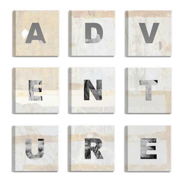 'ADVENTURE Light and Bright' 9 Piece Canvas Wall Art Set - Wayfair