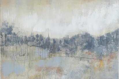 "40"" H x 60"" W x 1.5"" D Gray/Blue Cool Grey Horizon Cool Gray Horizon I by Jennifer Goldberger - Wrapped Canvas Graphic Art Print - AllModern"