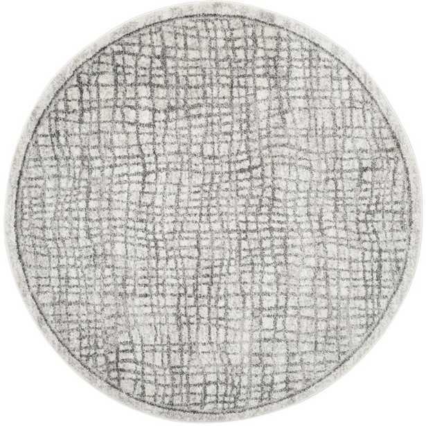 Connie Geometric Silver/Ivory Area Rug - AllModern