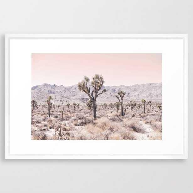 Joshua Tree Framed Art Print - Vector White - Large 26 x 38 - Society6