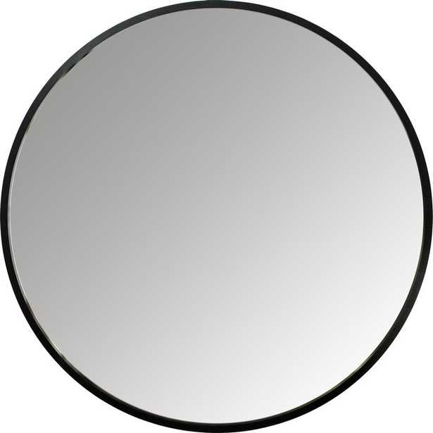 "Hub Modern and Contemporary Accent Mirror - Black - 37"" - Wayfair"