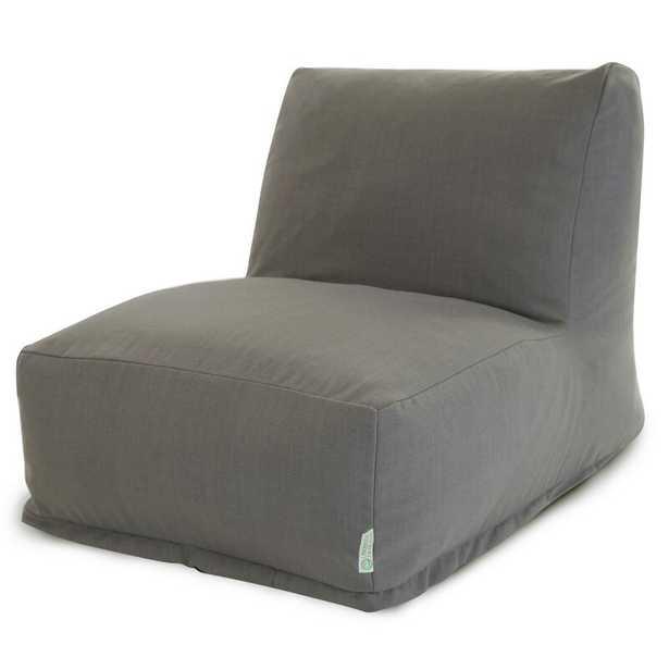 Solid Bean Bag Lounger - gray - Wayfair