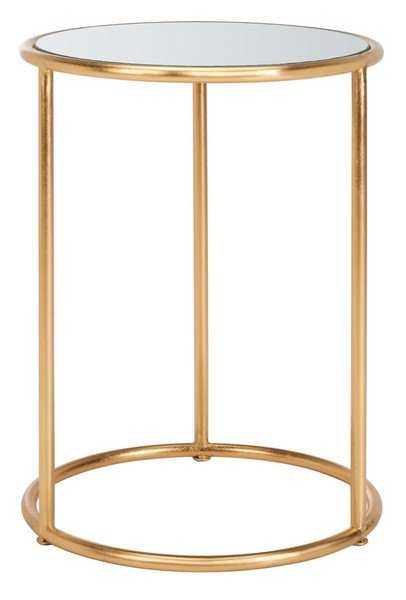 Shay Glass Top Accent Table - Gold - Arlo Home - Arlo Home