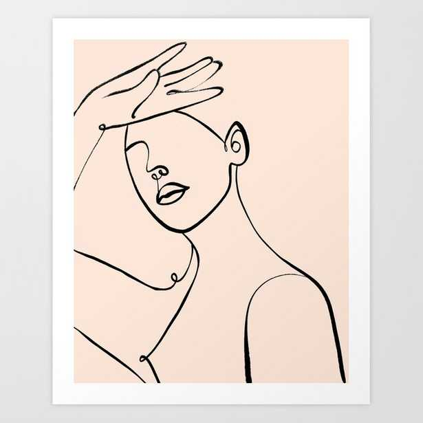 133 Worth The Wait #lineart #minimal Art Print - Society6