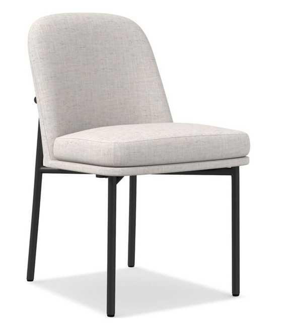 Jack Metal Frame Dining Chair, Performance Coastal Linen - West Elm