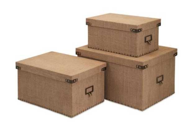 Corbin Storage Boxes (Set of 3) - Home Depot