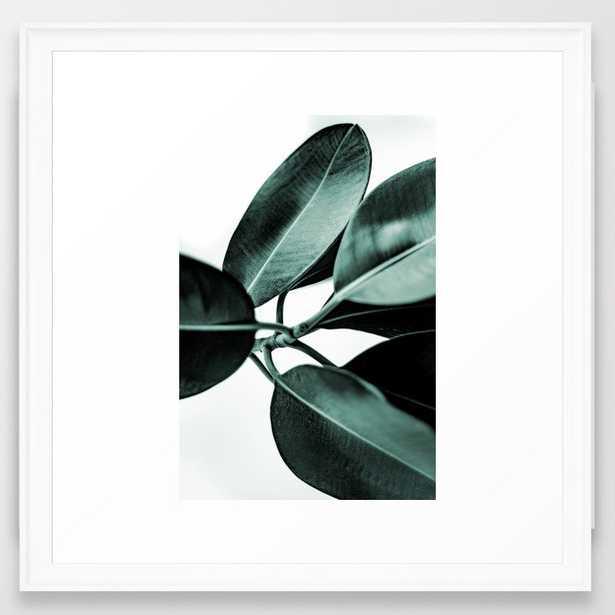 """Minimal Rubber Plant Framed Art Print, 22"""" x 22"""", Scoop white frame - Society6"""
