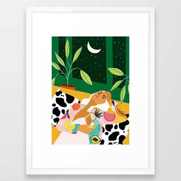Moon Lover #illustration #feminism Framed Art Print - Society6