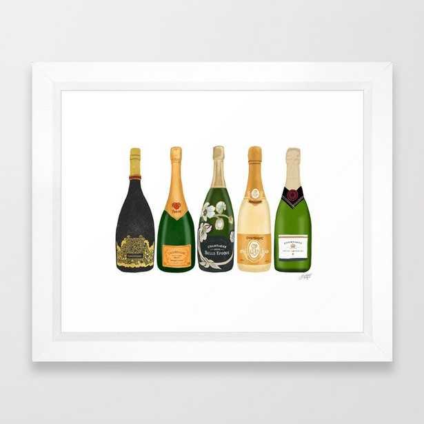 Champagne Bottles Framed Art Print - Society6