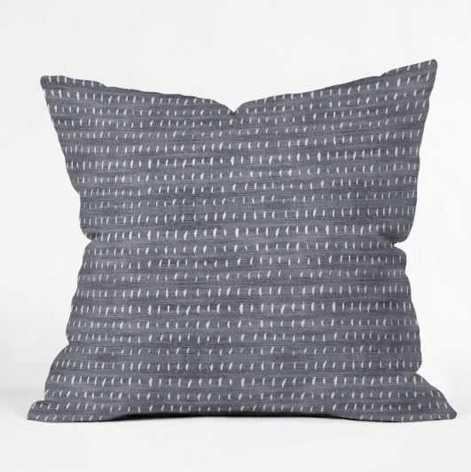 "BOGO DENIM RAIN LIGHT Throw Pillow - 18"" x 18"" - Pillow Cover with Insert - Wander Print Co."