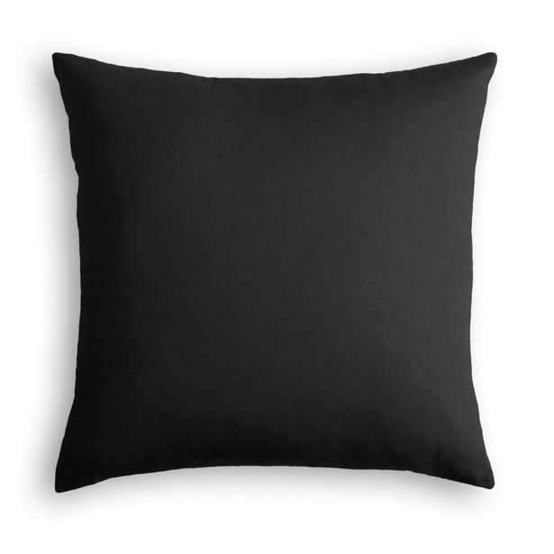 "Classic Linen Pillow, Black, 18"" x 18"" - Havenly Essentials"