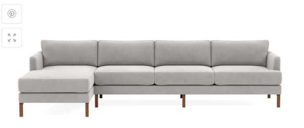 Winslow 4 seat left chaise sectional - Interior Define