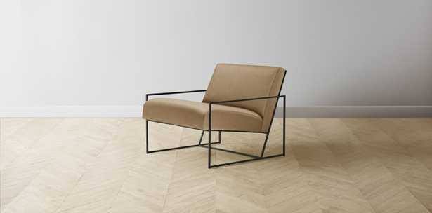 The Mercer - Lincoln Camel Chair / Black - Maiden Home