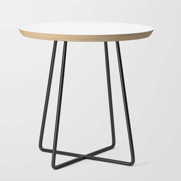 Mid Century Side Table - Basics - Round White - Society6