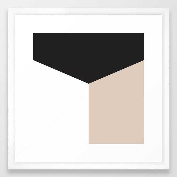 Blocked Sand Framed Art Print - Society6