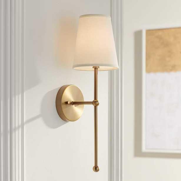 "Possini Euro Elena 21"" High Warm Brass Wall Sconce - Lamps Plus"