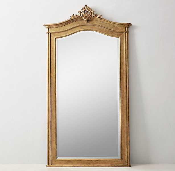 Carved Acanthus Leaner Mirror - Gilt - RH Teen