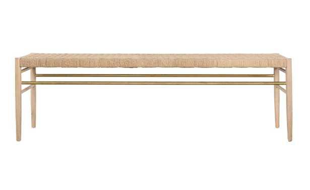 Eloise Woven Bench - McGee & Co.