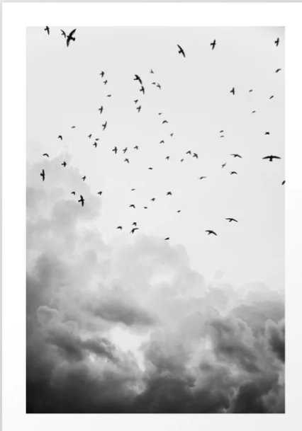 In the clouds Art Print - Society6